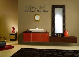 decorating ideas for bathroom walls amazon com bathroom wall decal 23 wide x 8 7 high black or