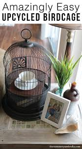 amazingly easy diy upcycled birdcage the summery umbrella