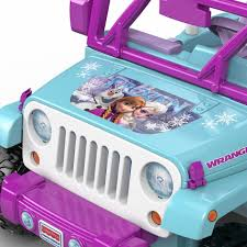 purple barbie jeep power wheels disney frozen jeep wrangler 12 volt ride on toys
