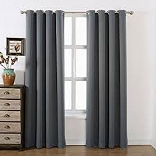 amazon com blackout curtain panels window draperies grey color