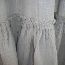 White Ruffle Curtain Panels Vintage Ruffle Shower Curtain A Cottage In The City