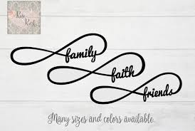 infinity decal faith decal family decal decal car