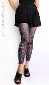 plus size polka dot paisley pattern footless tights