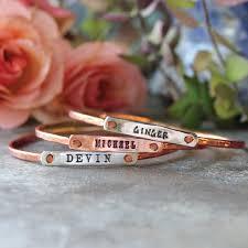 Personalized Bangle Bracelets Personalized Bangle Bracelet Rose Gold Beloved Bangle