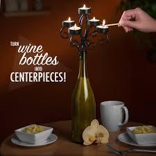 wine bottles wine bottle candelabra