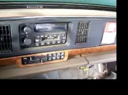 how to remove a radio from a 95 buick lesabre part 1 youtube
