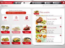 application recettes de cuisine seb nutricook