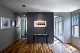 dark grey and ligth grey colors in the contemporary living room