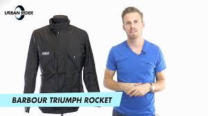 barbour triumph rocket jacket reivew by urban rider youtube