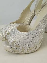 wedding shoes rhinestones ivory rhinestone peep toe bridal shoes ivory wedding heels blue