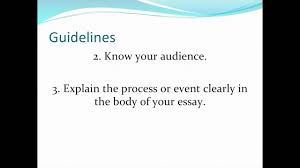 sample of a process essay process analysis essay youtube