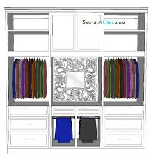 Avas Closet  Sawdust Girl - Wall closet design