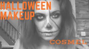 cosmel halloween makeup skull maquillage tete de mort youtube