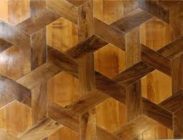 parquet floor shuttles and hexagons in walnut and cherry