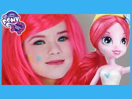 my little pony pinkie pie makeup tutorial equestria girls doll