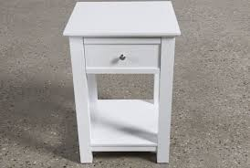 bayside white 1 drawer nightstand living spaces