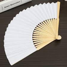 folding fans simple blank diy paper folding fan wedding party folding fans