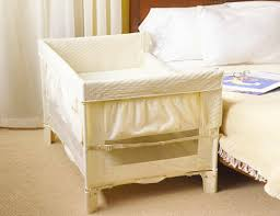 Crib That Attaches To Bed Safe Co Sleeping With The Arm S Reach Co Sleeper Inhabitots