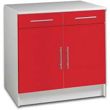 meuble bas cuisine hauteur 80 cm meuble bas 80 cm 2 portes 2 tiroirs modulo pas cher à prix auchan