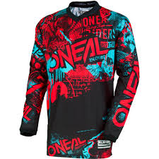 oneal element motocross boots new oneal 2018 mx element attack black red teal jersey pants