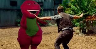 ellen u0027s u0027jurassic u0027 trailer stars barney dinosaur