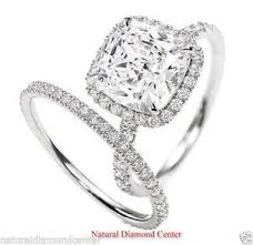 cushion diamond ring cushion cut diamond ring ebay