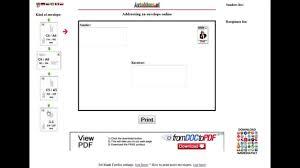 print address on envelope online for free youtube