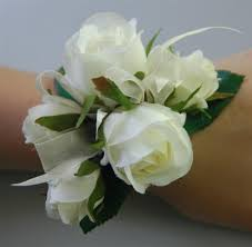wedding flowers ebay silk wedding wrist corsage artificial flower white