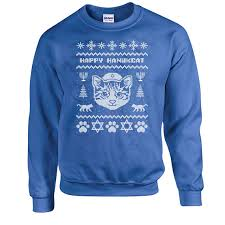 hannukah sweater sweater happy hanukcat hanukkah sweater cat lover