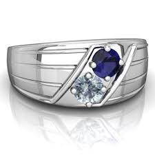 sapphire and aquamarine art deco men u0027s ring r0460 wspaq