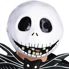 jack skeleton halloween disney nightmare before christmas jack skellington latex mask