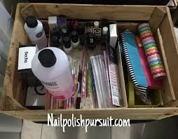 nail polish supplies organization before after the polished pursuit