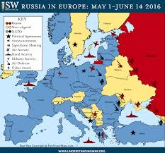 Russian Map Russia Says Us Troops Arriving In Poland Pose Threat To Its