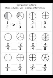 comparing fractions worksheets other math worksheets on this