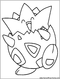 coloring page with togepi pages eson me
