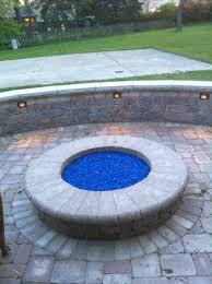 glass for fire pit blue glass fire pit ship design