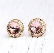 Halloween Clip On Earrings by Blush Earrings Diamond Rhinestone Stud Earrings Clip On