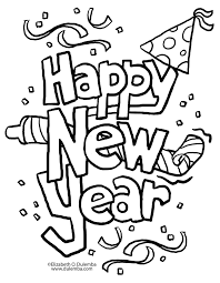 new years coloring pages getcoloringpages com