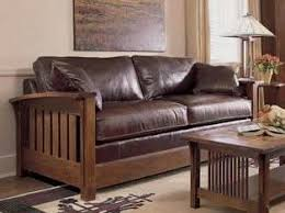 mission style leather sofa top stitching on this adds nice detail craftsman style pinterest