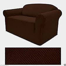 brown chair covers stretch form fit 3 pc slipcovers set sofa