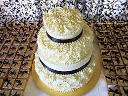 amaze dessert boutique gold u0026 black themed wedding cake