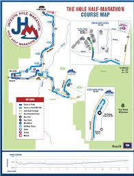 Marathon Route Map by Course Maps Jackson Hole Marathon