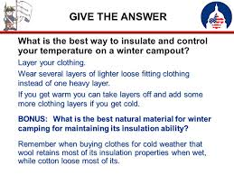 winter camping trivia ppt