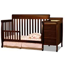 graco lauren classic 4 in 1 convertible crib brown convertible crib with side table u2014 steveb interior
