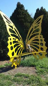 Butterfly Bench 8ft Metal Yellow Butterfly Bench French Bulldog Puppy My Metal