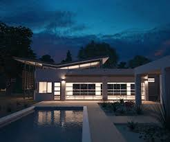 Covered Garage by Modern Butterfly Roof Design Garage Contemporary With Outdoor