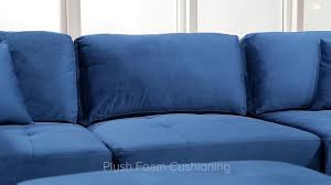 fabric living room sets leyla 5 piece fabric modular sectional living room set blue youtube