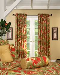 White Curtains With Green Leaves by Rod Pocket Curtains Thecurtainshop Com