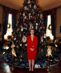 White House Christmas Ornament - past white house christmas trees