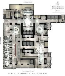 ground floor plan four seasons hotel and residences toronto ground floor